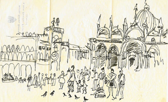Piazza San Marco Sherryart Paintings By Sherry Miller Sausalito